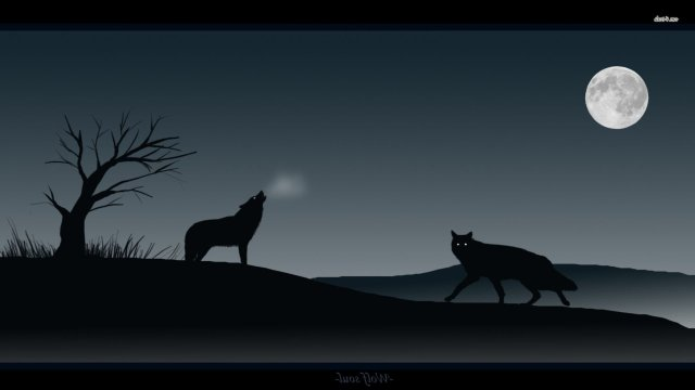 wolf-howl-moon-night-silhouette-tree