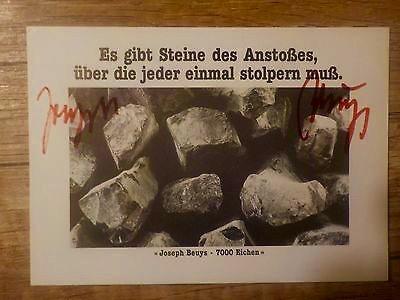 Joseph-Beuys-handsignierte-Karte-Steine-des-Anstoßes