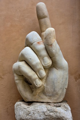 Italy-Rome-Colossus-Constantine-Marble-Hand