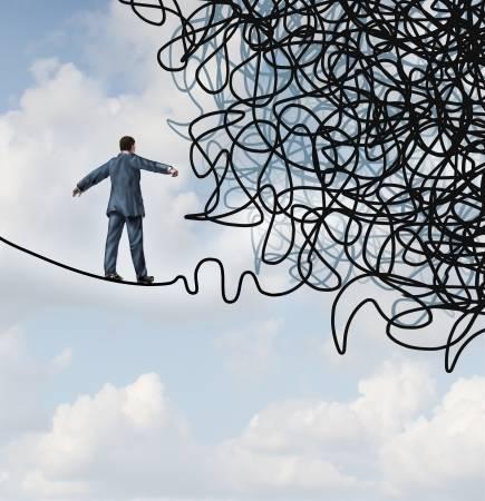 21743144-risico-verwarring-business-concept-met-een-zakenman-op-een-hoge-draad-gespannen-koord-lopen-naar-een