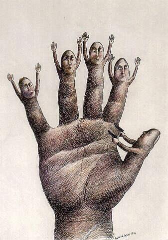 Roland_Topor_Hand_Zonder_titel_1976