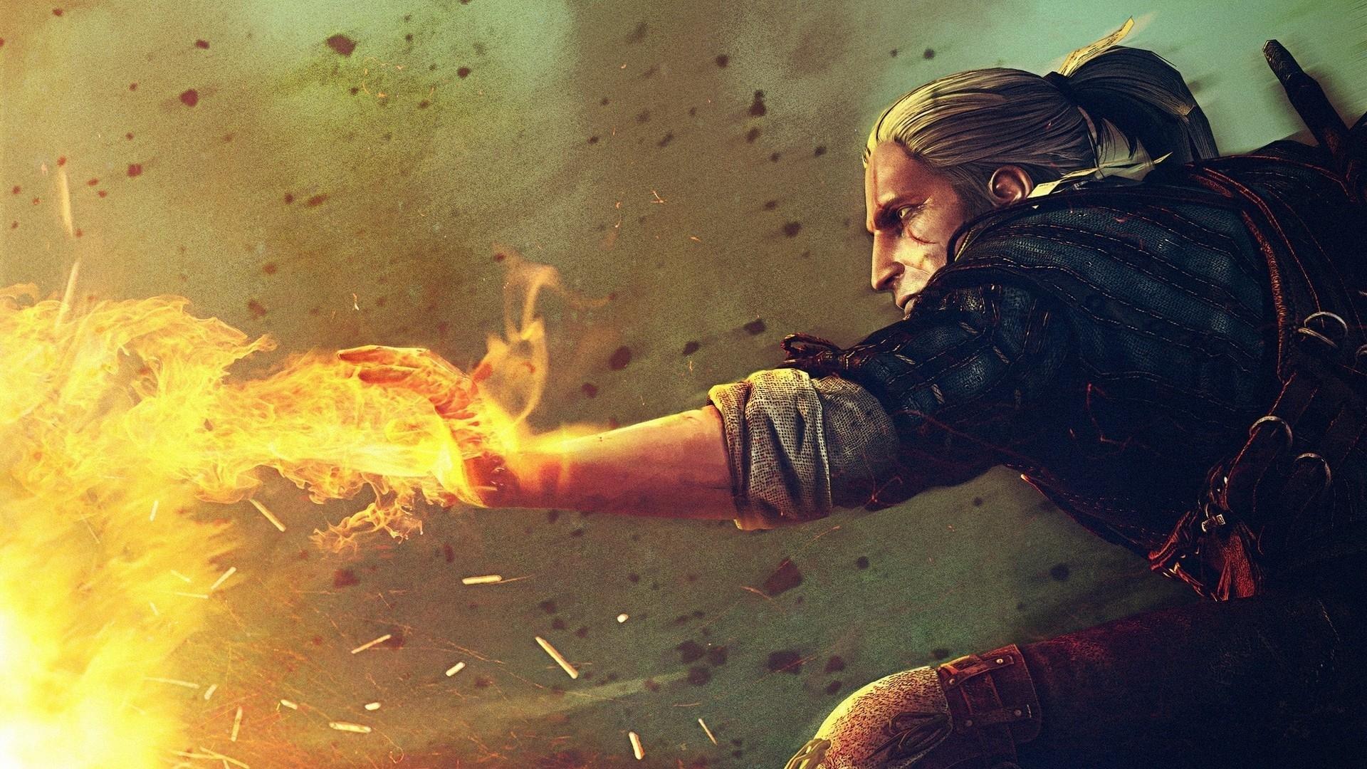 the_witcher_fire_hand_blonde_warrior_21328_1920x1080